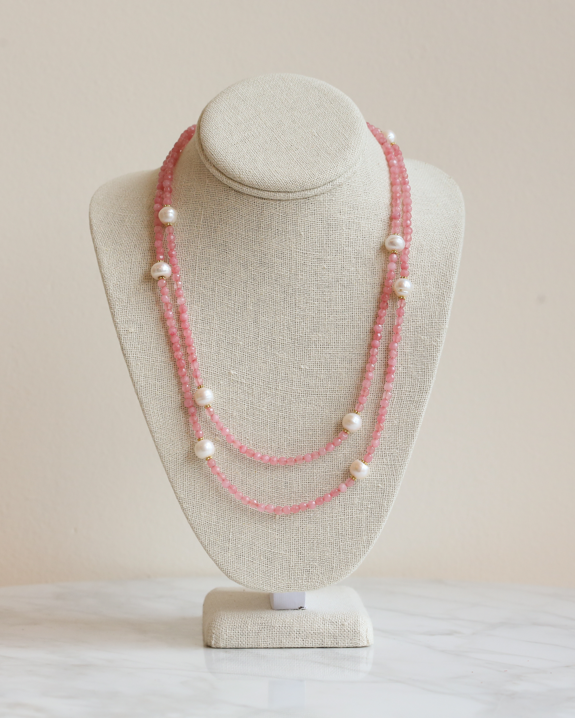 in ivory kendra products inez blush mak scott gold pearl a mary dyed mop necklace