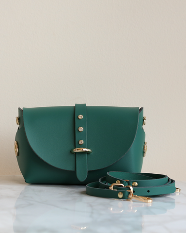 LILA Fashion | 'My Passport' Barrel Bag | Green Strass