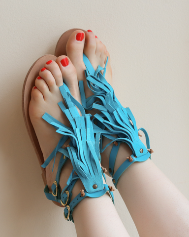 LILA Fashion | Toufa Sandals | Turquoise
