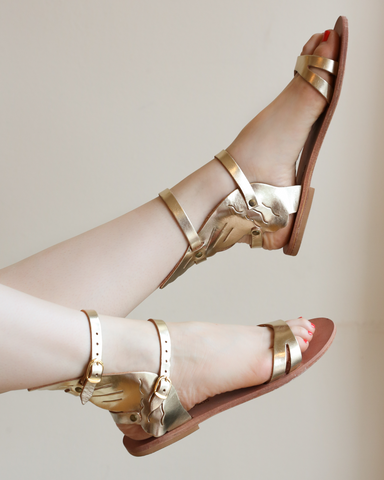 LILA Fashion | Pegasus Sandals | Gold