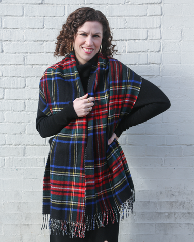 LILA Fashion | Royal Stewart Tartan Scarf