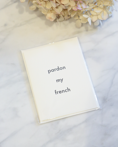 LILA Fashion | Pardon My French | Card