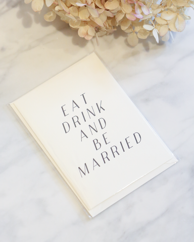LILA Fashion | Eat, Drink, Be Married | Card
