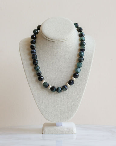 LILA Fashion | Sparta Jade and Silver Necklace