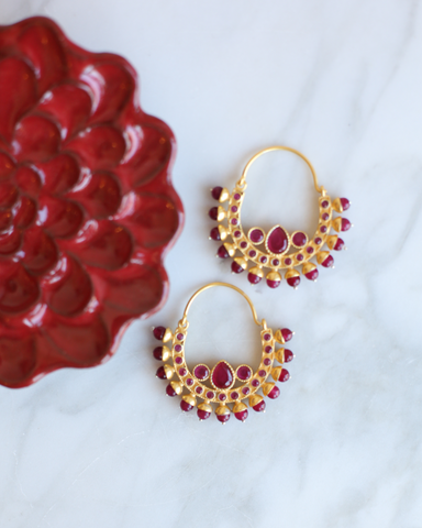 LILA Fashion | Boho Earrings | Red