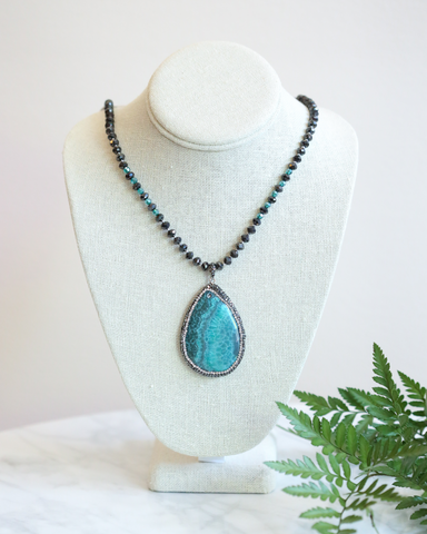 LILA Fashion | Bluegreen Pendant Necklace