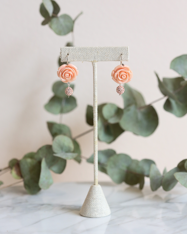 LILA Fashion | Blush Flower Earrings