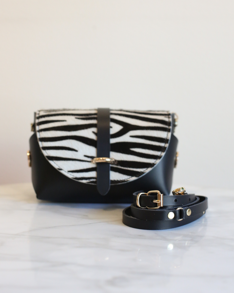 'My Passport' Barrel Bag | Black Zebra