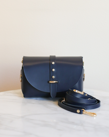 LILA Fashion | 'My Passport' Barrel Bag | Navy Strass