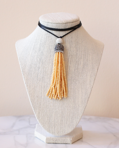 LILA Fashion | Tassel Necklace | Champagne