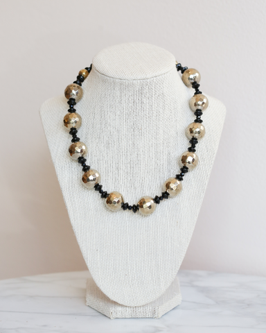 LILA Fashion | Hematite & Onyx Necklace