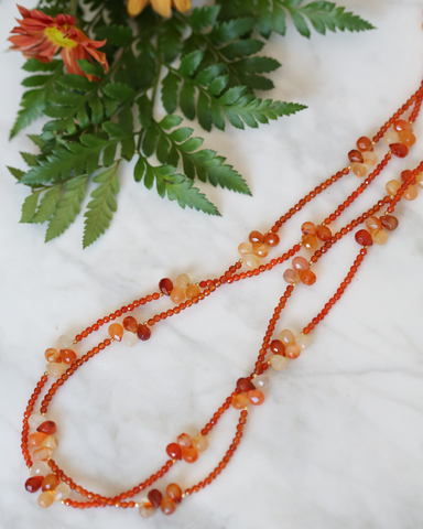 LILA Fashion | Carnelian Rock Necklace