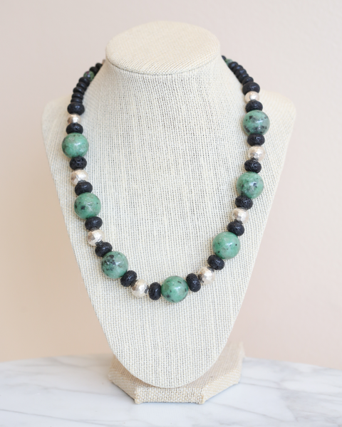 Agate Lava Necklace