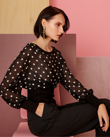 LILA Fashion | Polka Dot Blouse