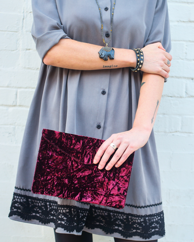 LILA Fashion | Portofino Clutch | Velvet