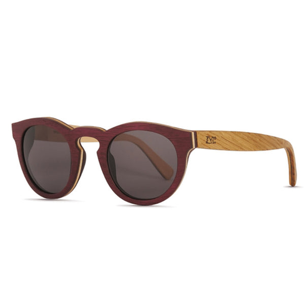 Adam Purple Heart & Oak Sunglasses