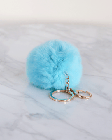 LILA Fashion | Pom Keychain | Blue