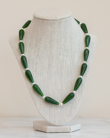 LILA Fashion | Jade Teardrop Necklace