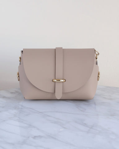 LILA Fashion | 'My Passport' Barrel Bag | Nude
