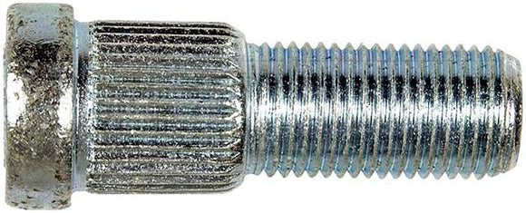 610-159 1/2-20 Serrated Wheel Stud - .620 In. Knurl, 1-5/8 In. Length Checker Motors 1982-71, Chrysler 1971-63, General Motors 2002-71