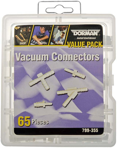 799-355 (65) Piece Vacuum Connector Assortment Value Pack Tray