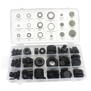 Grommets 125 pcs 18 Sizes Grommets Ring Assortment For Car Vehicle Auto Repair