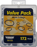 799-450 Top 10 Metric O-Rings Value Pack- 8 Sku's- 172 Pieces