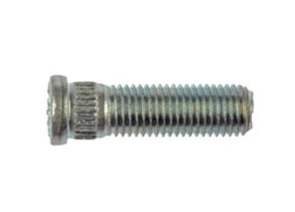 610-254 M12-1.50 Serrated Wheel Stud - 12.73mm Knurl, 41.5mm Length (GM, HONDA & ISUZU)