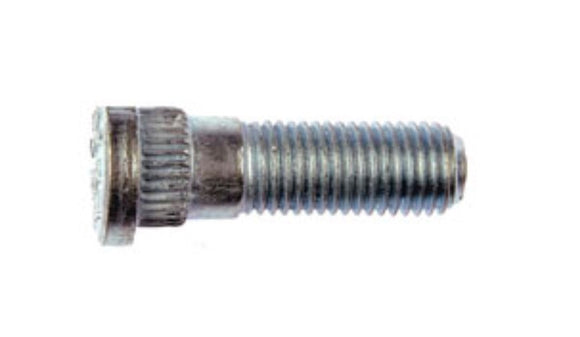 610-285 M12-1.50 Serrated Wheel Stud With Clip Head - 14.94mm Knurl, 41mm Length(CHRYSLER, DODGE & MAZDA)
