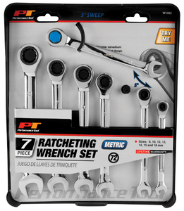 W1092 7pc METRatcheting Wrench Set