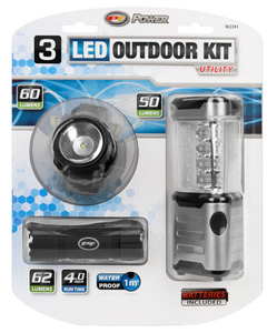 W2341 3pc LED Flashlight & Lantern