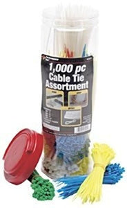 W2925  1,000pc Cable Tie Assortment