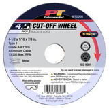 "W50008  4.5"" x 1/16"" Cut Off Wheel 5pc"