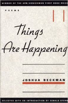 APR/Honickman First Book Prize - 1998 Winner: Things Are Happening (Out of Stock)