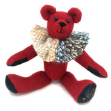 """Beatrice Cherry"" - wool heirloom teddy bear"