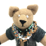 """Dale"" - camel wool heirloom teddy bear"