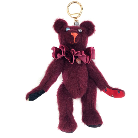 "Teddy Bear Bag Charm - ""Red Ripple"""
