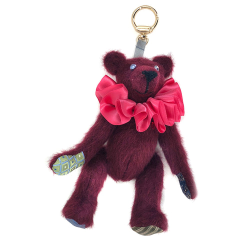 "Teddy Bear Bag Charm - ""Blushing Bea"""