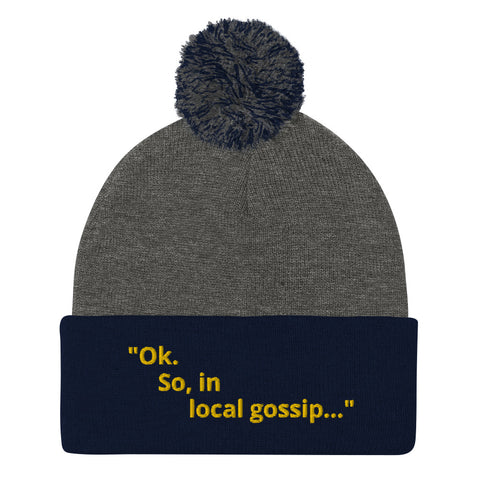 """Local Gossip"" Pom-Pom Beanie"