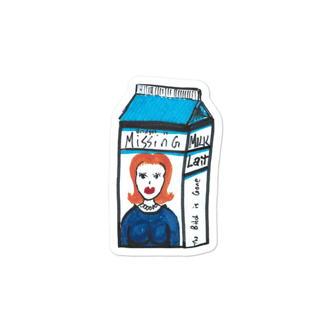 """Milk Carton"" Bubble-free Stickers"