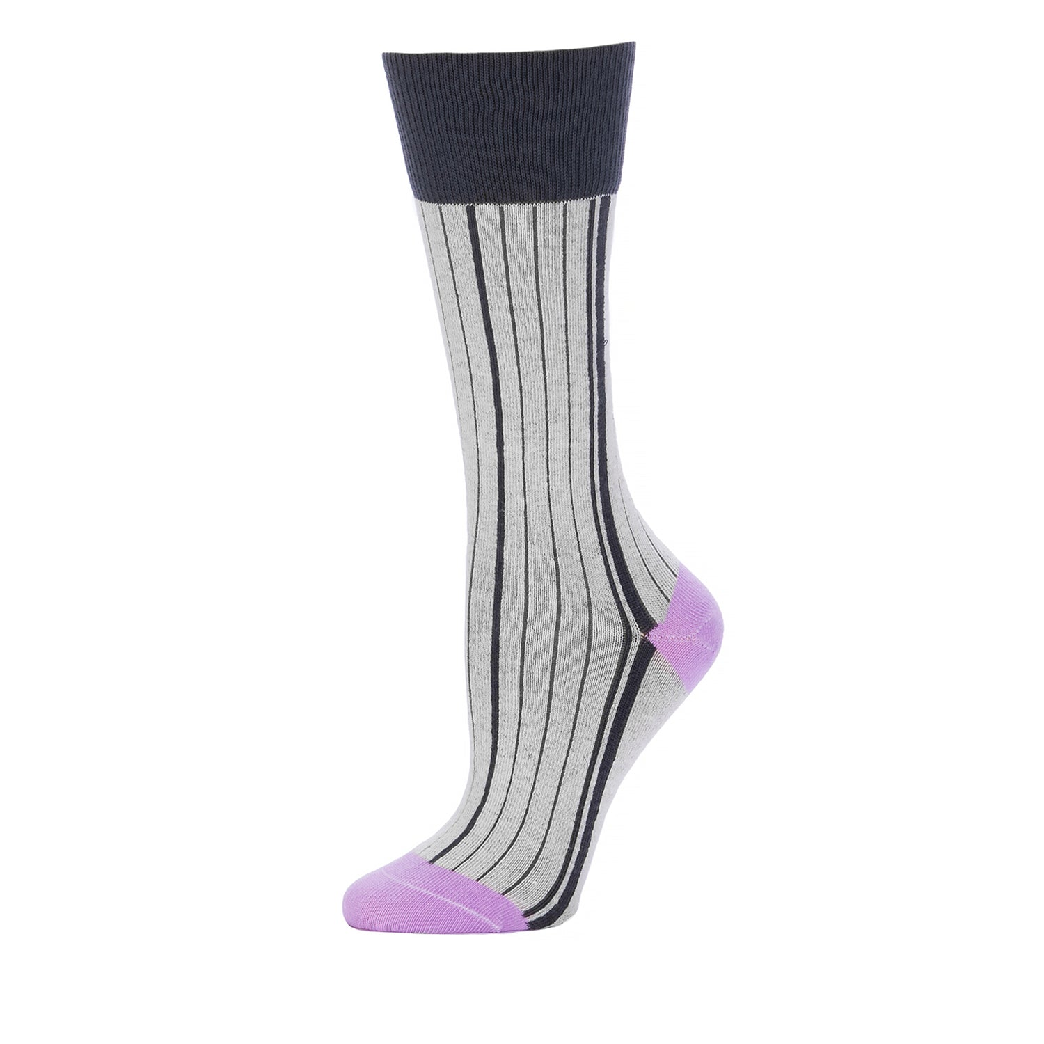 Vertical Side Stripes Mid Calf- Vapor