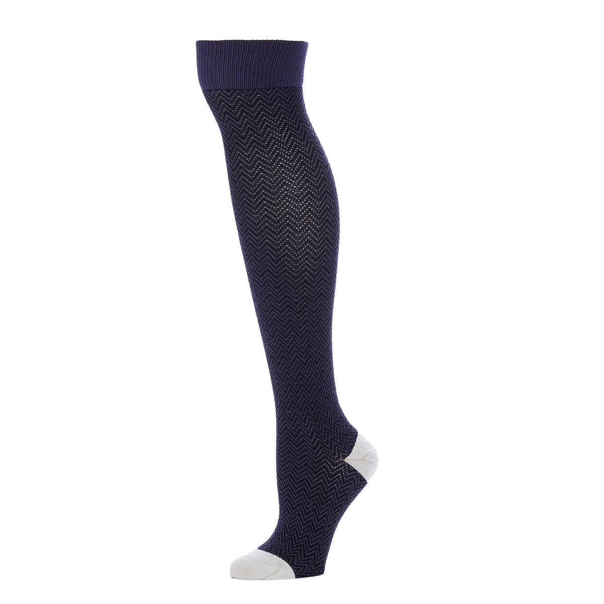 Textured Herringbone Over the Knee- Sapphire