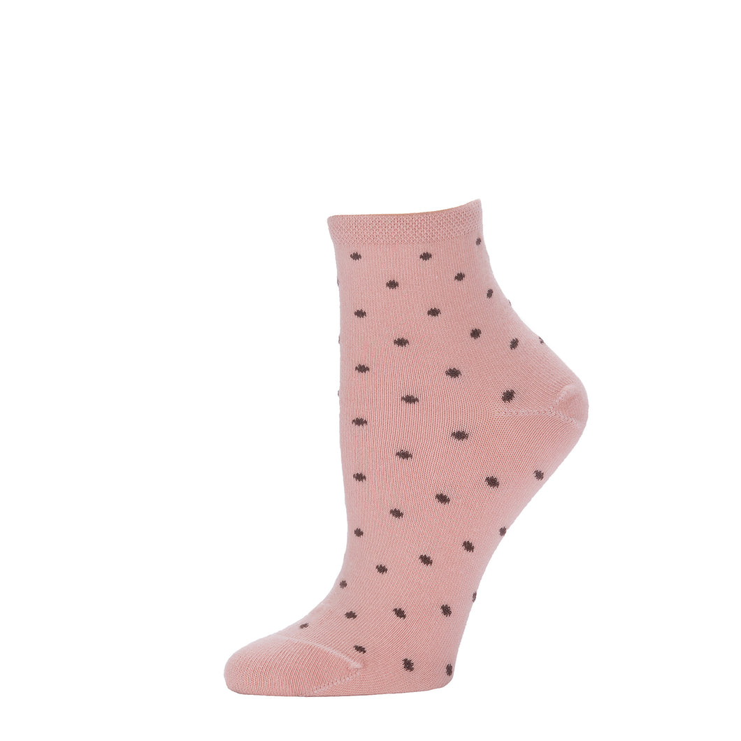 Polka Dot Ankle- Antique Pink