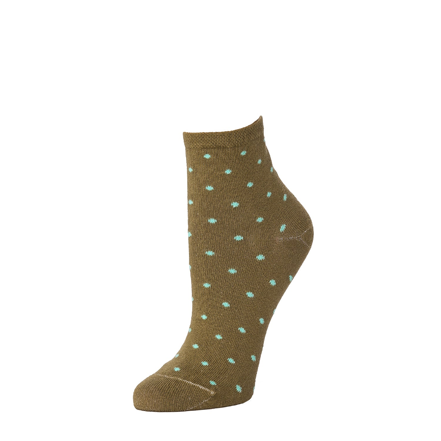 Polka Dot Ankle- Peat