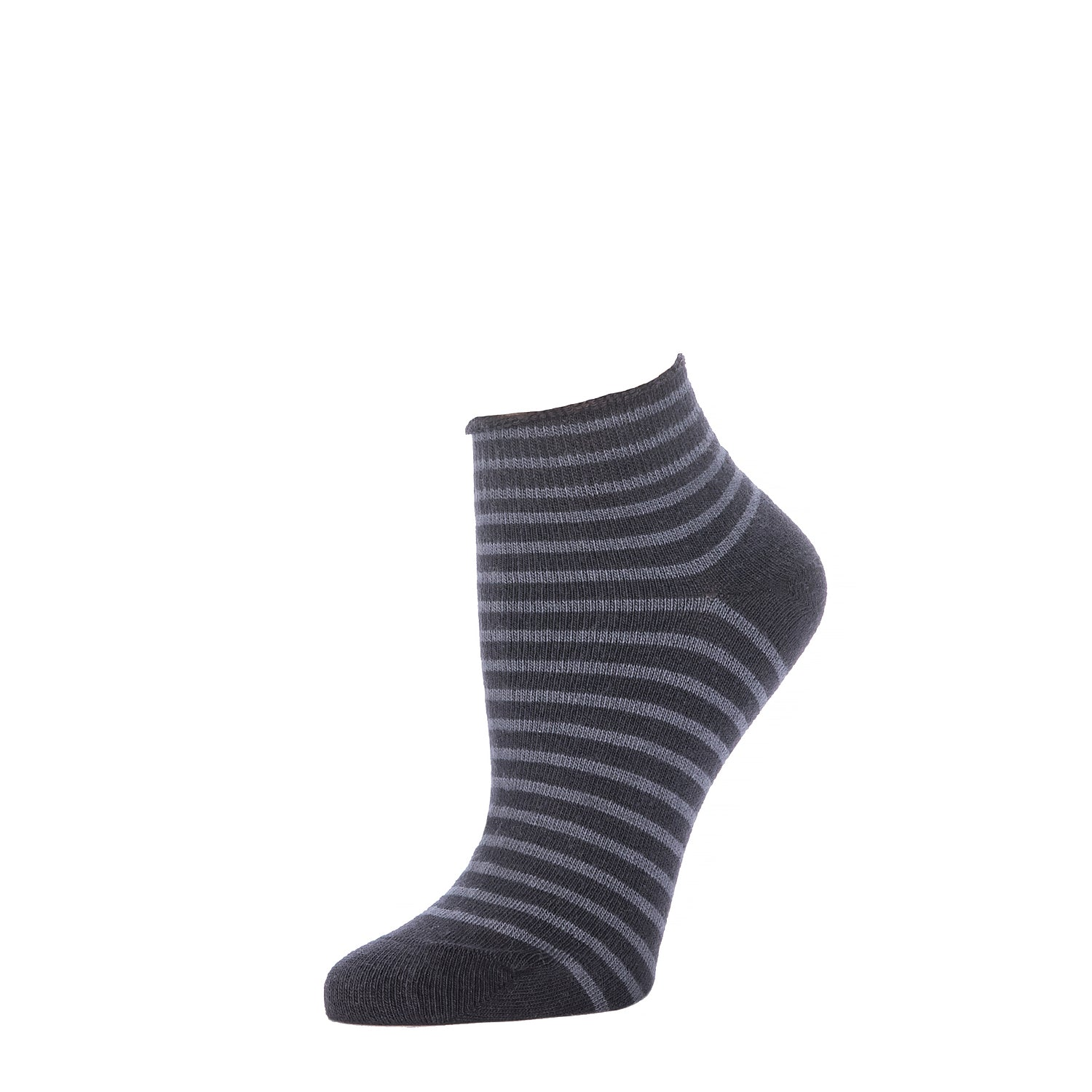 Striped Bootie- Black
