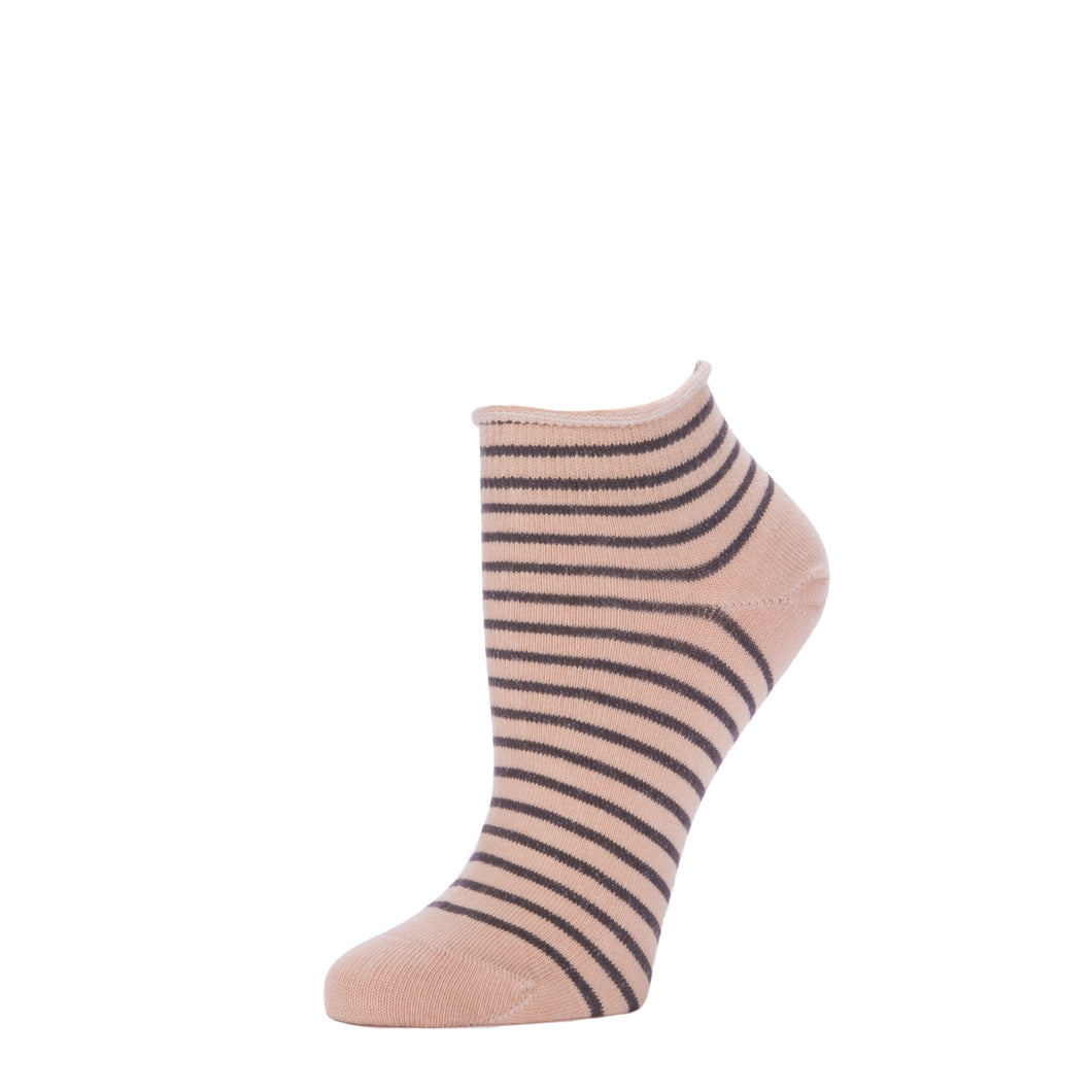 Striped Bootie- Nude