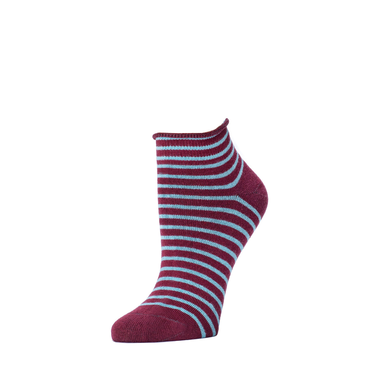 Striped Bootie- Oxblood
