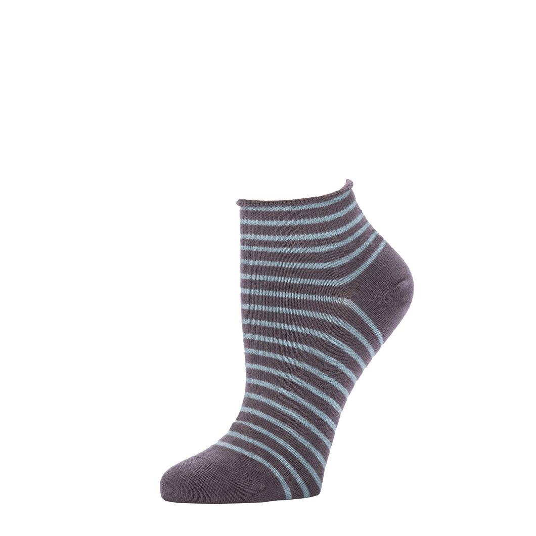 Striped Bootie- Truffle