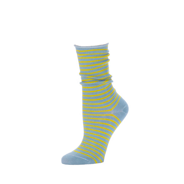 Slouch Sock Striped- Moonstone