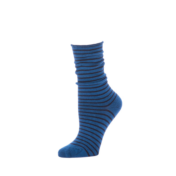 Slouch Sock Striped- Sapphire